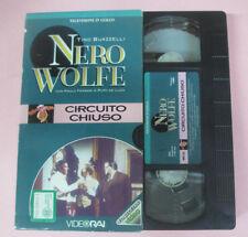 VHS film CIRCUITO CHIUSO Tino Buazzelli Paolo Ferrari NERO WOLFE (F173) no dvd *