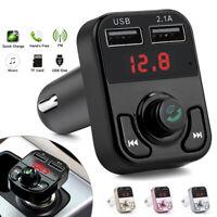 Bluetooth Car Kit Wireless FM Transmitter USB Charger Radio Adapter MP3 Player