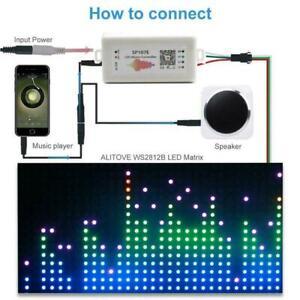 SP107E Smart APP Bluetooth LED Music Controller Pixel Strip WS N4X4