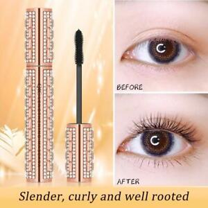 4D Flash Diamond Waterproof Silk Fiber Thick Lengthening Volume Up Mascara