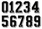 Vinyl 1970's 80's 90's Football Shirt Soccer Numbers Heat Print Football Puma A