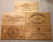 5 SAINT EMILION FRANCE WOOD WINE PANELS Crate Box Side 🍇🍷🍇🍷 3/20