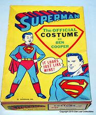 Superman Kids Costume Ben Cooper 1960's #288 Med 8-10 in nice box!