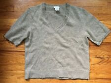 Dries Van Noten Wool Cashmere Blend Shiny Specks V-Neck Sweater Jumper Size L