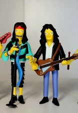 AEROSMITH SIMPSONS STEVEN TYLER & JOE PERRY NECA ACTION FIGURES LOT OF 2