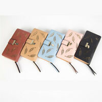 Women Ladies Leather Wallet Trifold Card Coin Holder Long Purse Clutch Zipper