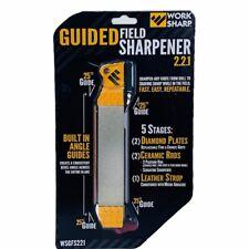 Knife sharpener Guided field work sharp 25 guide NEW sealed diamond plate strop