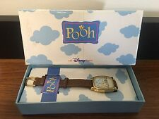Winnie The Pooh & Piglet Watch By Disney For Ladies, Brown Leather band