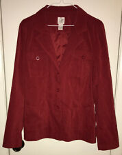 Fashion Bug Blazer Women Size Large Red Button Front Jacket Ex Cond!!!