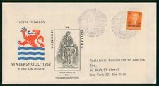 Mayfairstamps Netherlands FDC 1953 Watersnood in Holland First Day Cover wwr_110