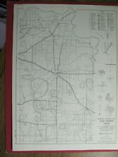 New Listing1963 Clay & Childerss County Texas Maps Highways Towns Mk&T Fw&D Railroad