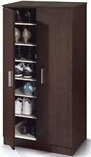 Alfy Wenge Dark Espresso Brown Shoe Cabinet Cupboard Storage Rack Unit