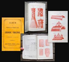C1850 Catalogue for tiles and Architectural lacónico grande Tuilerie Bouveret