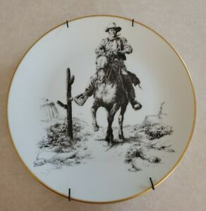 """John Wayne """"America's Most Loved"""" Collector Plate Cowboy Horse 8 1/2 inch"""