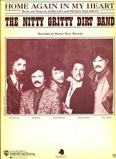 THE NITTY GRITTY DIRT BAND HOME AGAIN IN MY HEART SHEET MUSIC 1985 VERY RARE NEW