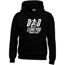 Dad I Love You 3000 Hoodie Daddy Father's Day Birthday Gift Men Sweatshirt Top