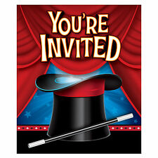 8 Magician Magic Birthday Party Invitations Invites & Envelopes