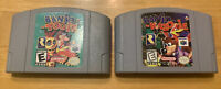 Banjo Tooie & Banjo Kazooie Nintendo 64 N64 GAME LOT Authentic Tested Free Ship!