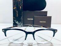 Tom Ford Men's Eyeglasses FT5645-D-001 Shiny Black, Havana Brown Temple AsianFit
