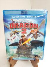 How to Train Your Dragon 2 (Blu-ray/DVD, Digital) SEALED *Minor tear on artwork*
