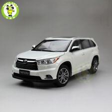 1/18 Toyota Highlander 2015 SUV Diecast Metal Car SUV Model Gift Hobby White