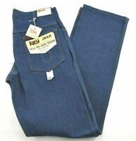 Vintage NOS Key Jean Mens 14 Oz Denim Fit Over Boot USA Made Cotton Blue Jeans