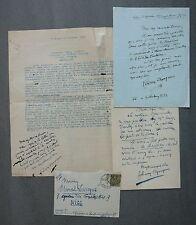 Félicien CHAMPSAUR MANUSCRTS autographes signés à Marcel Lévesque. 1931.