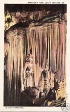 Postcard Virginia Luray Caverns Saracen's Tent Caves Linen 40s