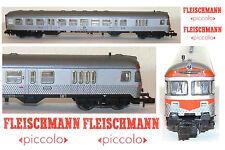 FLEISCHMANN 814007 CARROZZA PILOTA con BAGAGLIAIO con LUCI FARI e CABINA SCALA-N