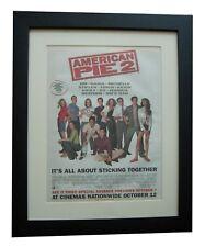 AMERICAN PIE+Movie+Film+POSTER+AD+RARE+ORIGINAL 2001+FRAMED+EXPRESS GLOBAL SHIP