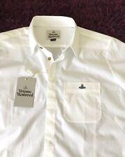BNWT Stunning 100% Genuine Vivienne Westwood S/S White Shirt In Size 54, XL
