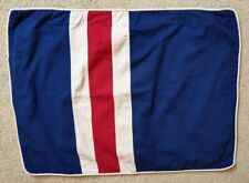 Denim Pillow Sham Denim Blue, Red and Tan wide stripe Standard Size