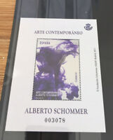 Spain 2017 MNH Alberto Schommer Contemporary Art 1v M/S Silver Print Stamps