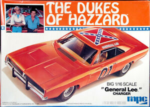 """MPC 1/16 scale """"Dukes of Hazzard"""" """"General Lee"""" 1969 Dodge Charger R/T"""
