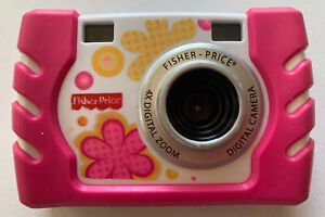 Fisher-Price Kid-Tough Children's Digital Camera 4X Zoom Pink Tested And Working