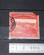 DELANDRE CINDERELLA VIGNETTE TIMBRE EXPOSITION INTERNATIONALE LYON 1914