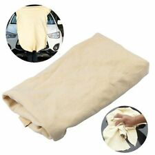 Large Natural Chamois Leather Car Cleaning Cloth Absorbent Drying Towel 90*60cm