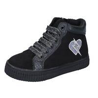 Scarpe bambina FIORUCCI 34 EU sneakers nero camoscio sintetico BM421-34