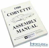 1980 Chevrolet Corvette  Factory Assembly Rebuild Instruction Manual Book