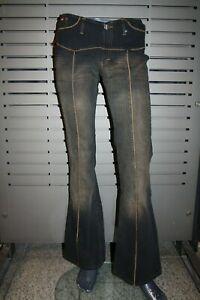 JIGGY Jeans RODEO Damen neu Party ausgestellt rinse darkblue mit Aufnähern