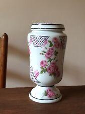 Vase / urne / pot à pharmacie Porcelaine LIMOGES roses vintage ancien