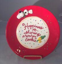 "Hallmark Peanuts SNOOPY Christmas Cookie Plate - 10.25"" Diameter"
