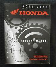 2009-2014 HONDA 420 TRX420FA TRX420FPA FOURTRAX RANCHER AT ATV SERVICE MANUAL