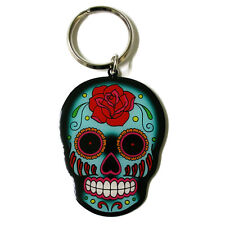 Rose Sugar Skull Metal Key Ring key chain sunny buick tattoo