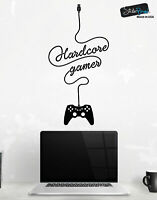 Hardcore Gamer Wall Decal Sticker. Perfect for Xbox / Playstation Gamer #6098