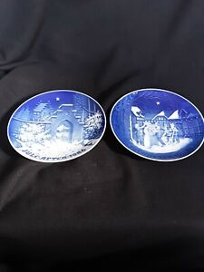 2 Bing and Grohndahl Denmark Christmas Plates 1986 and 1987 excellent condition