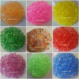 CLEAR CRUNCHY FOAM SLIME STRESS RELIEF TOY FOR KIDS NO BORAX SCENTED - 70g