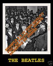 THE BEATLES  amazing set of 2 8x10 BBC 63 CONCERT WALKINGTHREW CROWD 1966 WOW