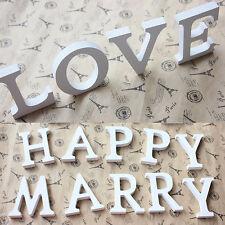 Wohndeko 26 Holz Buchstaben Alphabet Hochzeit Hochzeitsparty Tischdeko HOT