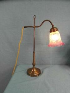 Pultlampe Tischlampe Jugendstil Berlin Messing Verstellbar Verziert Edel o6a1